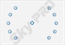 7 - Схема расположения точечных светильников на натяжном потолке