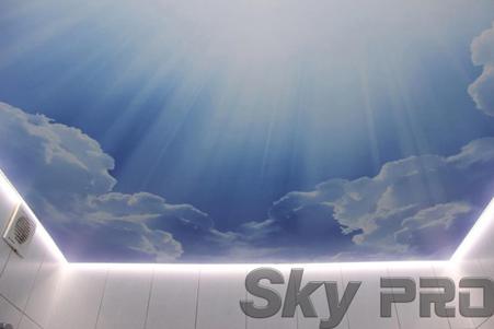 Парящий потолок небо фотопечать
