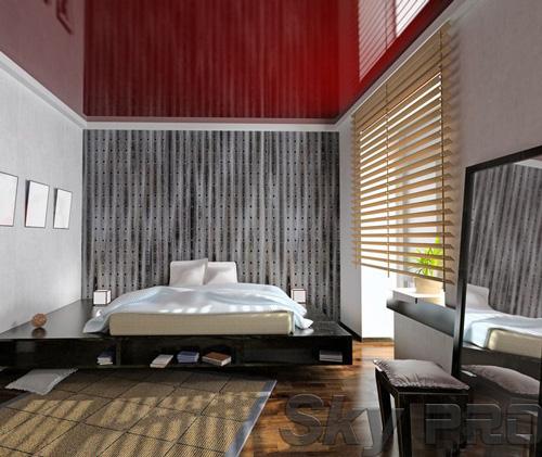 Установка натяжного потолка в спальне в Боровичах